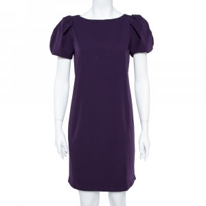 Diane von Furstenberg Purple Stretch Jersey Lionel Shift Dress M