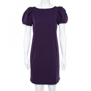 Diane von Furstenberg Purple Stretch Jersey Lionel Shift Dress M - used