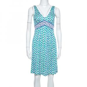 Diane von Furstenberg Blue Printed Silk Jersey Ophelia Dress S - used