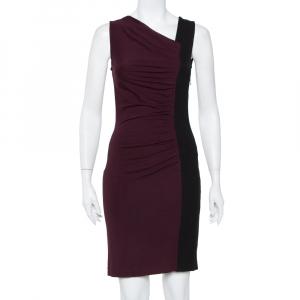 Diane Von Furstenberg Colorblock Stretch Knit Gladys Dress S - used