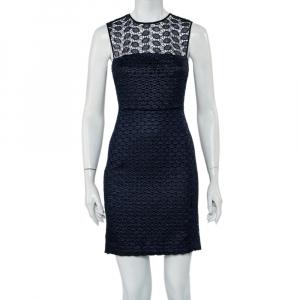 Diane Von Furstenberg Navy Blue Kinchu SG Lace Dress S - used