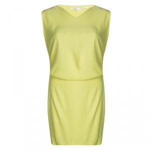 Diane Von Furstenberg Yellow Sleeveless Drop Waist Gagon Dress S - used