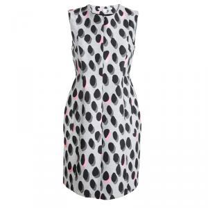 Diane Von Furstenberg Grey New Summer Mini Animal Dots Sleeveless Dress S - used