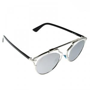 Dior Silver Mirrored APPDC So Real Round Sunglasses