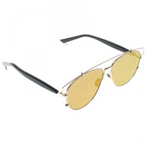Dior Gold/Brown RHL 38 Technologic Aviator Sunglasses