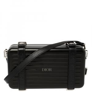 Dior x Rimowa Black Aluminium Personal Clutch