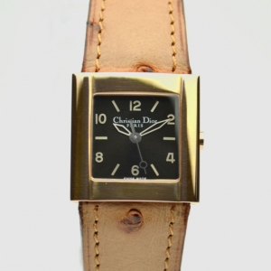 Christian Dior Black Gold Plated SS Ladies Wristwatch