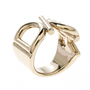 Dior Gold Tone Ring Size 50.5
