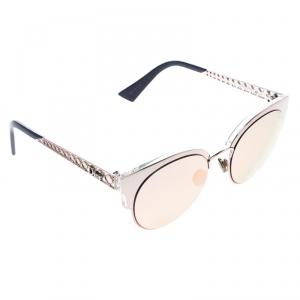 Dior Rose Gold/Blue S8R0J Mirror Diorama Mini Clubmaster Sunglasses