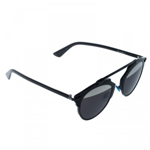 Dior Black/Silver Top B0YMD So Real Round Sunglasses