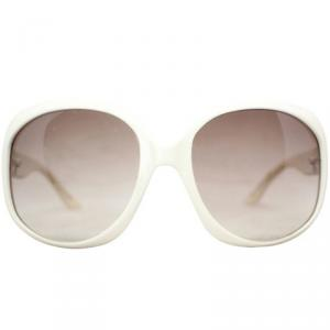 Dior White Oversized Sunglasses