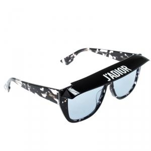 Dior Black Havana/Blue 9WZKU Dior Club 2 Detachable Visor Rectangle Sunglasses