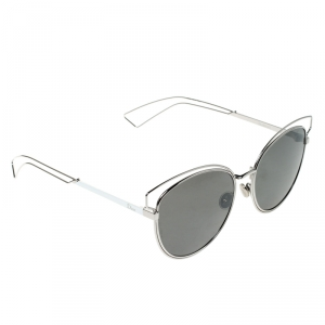 Dior Silver/Black DIOR Sideral 2 JB0SF Cat Eye Sunglasses