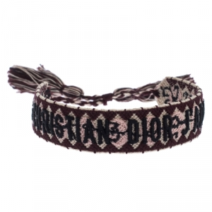 Dior J'Adior Multicolor Woven Adjustable Tassel Bracelet