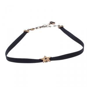 Christian Dior D Porte-Bonheur Star Choker Necklace