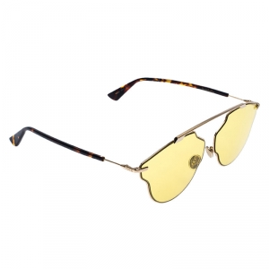 Dior Dark Havana/ Citric Yellow So Real Pop Aviator Sunglasses
