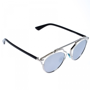 Dior Silver Mirror Dior So Real Round Sunglasses