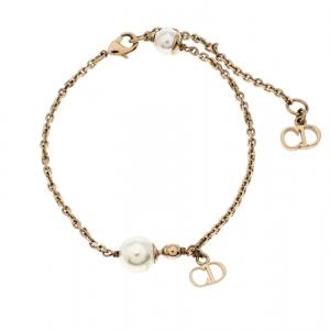 Dior Le Petite Tribale Faux Pearl Gold Tone Bracelet