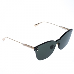Dior Gold Tone/ Green DiorColorQuake 2 Rimless Square Sunglasses