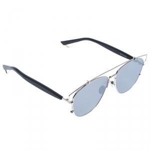 Dior Silver/ Silver Mirrored 84J0T DiorTechnologic Aviator Sunglasses
