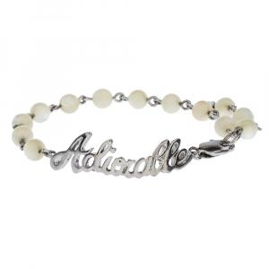 Dior Adiorable Bead Silver Tone Bracelet