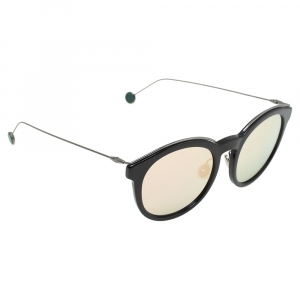 Dior Black/Green & Pink Mirrored DiorBlossom ANS0J Round Sunglasses