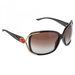 Dior Brown/Gold Gradient Copacabana Oversized Sunglasses