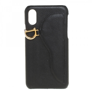 Dior Black Leather Saddle iPhone X Case