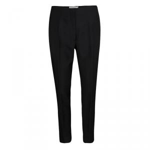 Dior Black Wool Tapered High Waist Trousers M