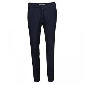 Dior Navy Blue Wool Tailored Trousers S