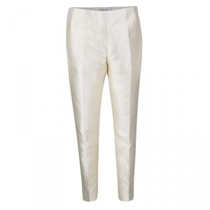 Dior Cream Silk Pants M