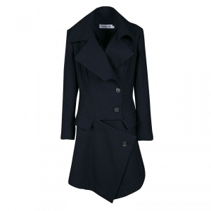 Dior Navy Blue Wool Over Coat L