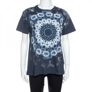 Dior Midnight Blue Printed Cotton & Linen Kalei Diorscopic T-Shirt M
