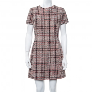 Christian Dior Multicolor Tweed Sheath Dress L - used