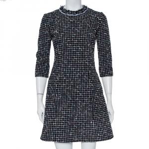 Christian Dior Black Tweed A-Line Mini Dress S - used