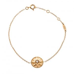 Dior Rose des Vents Diamond Pink Opal 18k Rose Gold Bracelet