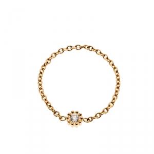 Dior Mimirose Diamond 18k Yellow Gold Ring Size 55