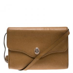 Dior Tan Leather Vintage Shoulder Bag