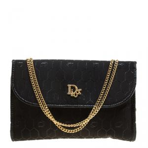 Dior Black Fabric Vintage Shoulder Bag