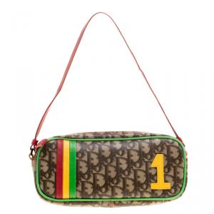 Dior Multicolor Coated Canvas Rasta Shoulder Bag