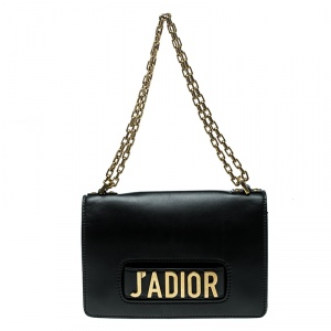 Dior Black Leather J'adior Chain Shoulder Bag