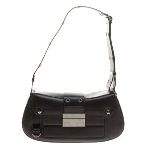 Dior Black Leather Shoulder Bag