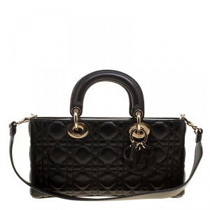 Dior Black Quilted Leather Runway Bag