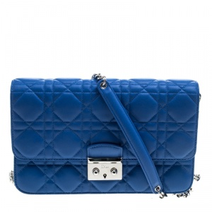 Dior City Blue Cannage Leather Miss Dior Promenade Shoulder Bag