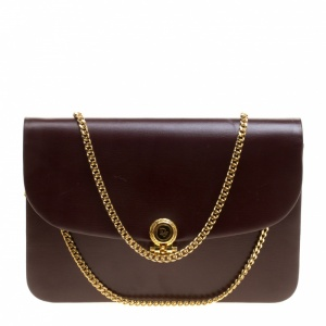Dior Burgundy Leather Vintage Shoulder Bag