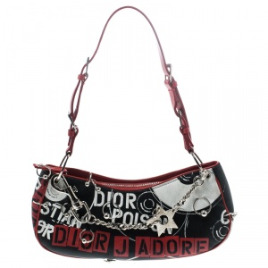 Dior Multicolor Coated Fabric J'adore Poison Shoulder Bag