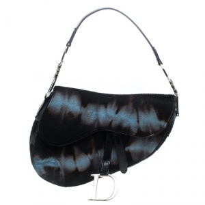 Dior Multicolor Calfhair Saddle Bag