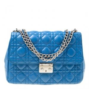 Dior Blue Cannage Leather Miss Dior Shoulder Bag