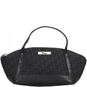 Dior Black Oblique Canvas And Leather Everyday Bag