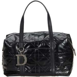 Dior Black PVC Cannage Everyday Bag